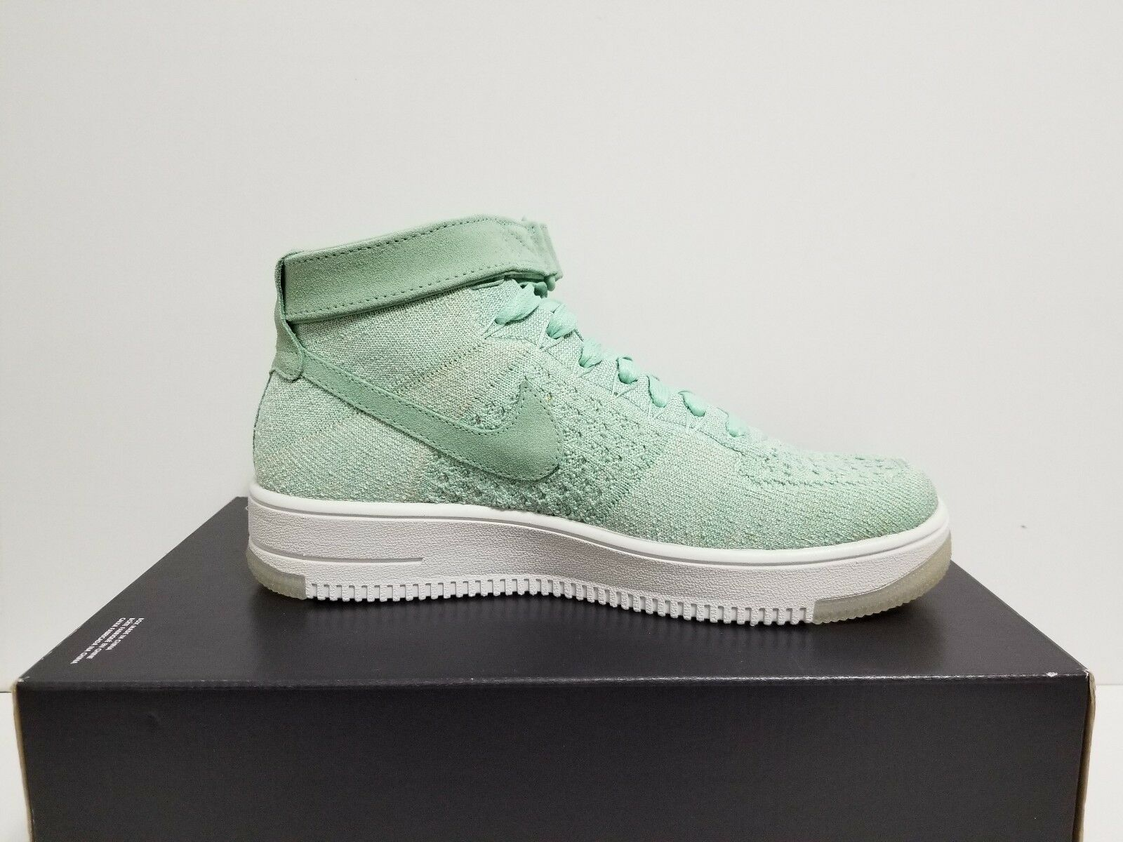 timeless design dc0f5 116a9 ... WMNS NIKE AIR FORCE 1 FLYKNIT FLYKNIT FLYKNIT ENAMEL GREEN ENAMEL GREEN  818018 301 NO