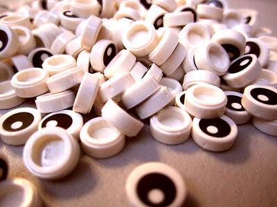 "100+ NEW LEGO /'Eye/' 1x1 Round /""No 8/"" Flat Tiles eyes ID 13360"
