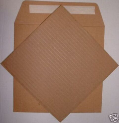 "200xSTIFFENERS NEW^ 100x7/"" 600grm STRONG BROWN MAILER"