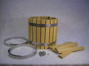 Wine press fruit cider press barrel oak hopper kit for Home wine press