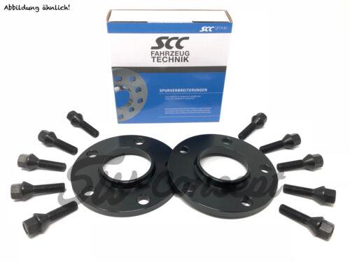 24mm 2x12mm ensanchamiento SCC mini 5x112 66,6 F-serie tornillos negro