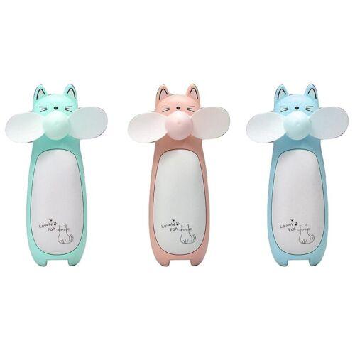 Creative Outdoor Small Fan Mini Cartoon Cat Fan Handheld Portable Charging  I6O5