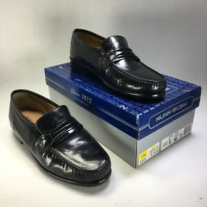 NUNN-BUSH-Leather-Loafers-Slip-On-Dress-Casual-Shoes-Men-039-s-Black-9M