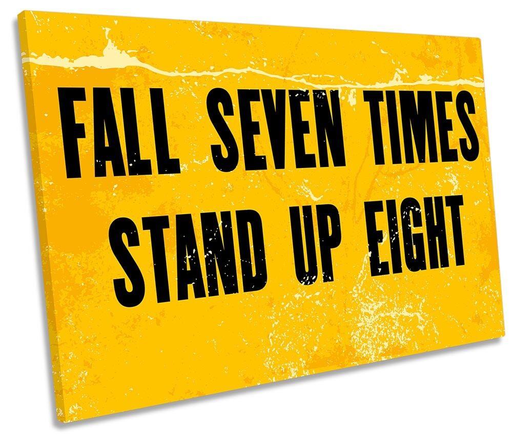 Fall Down Seven Times Framed SINGLE CANVAS Drucken Wand Kunst