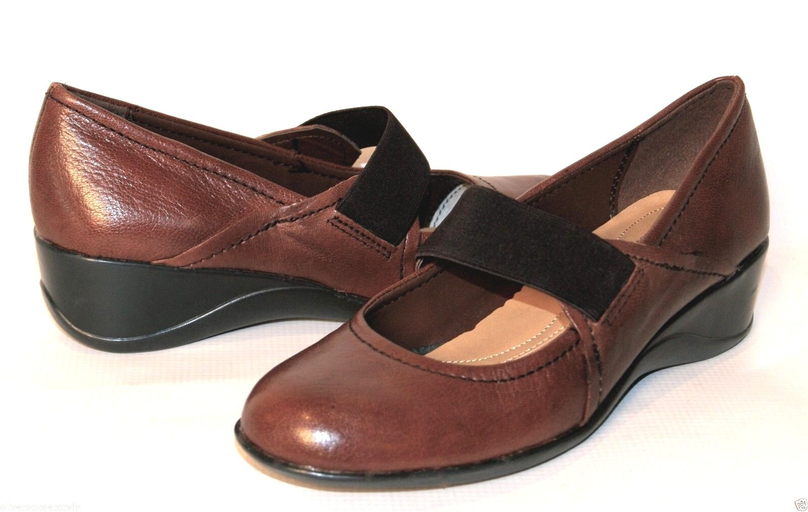 NATURALIZER Ande Dark Brown Leather Wedge Heel shoes Sz 8 Retails  79  NEW