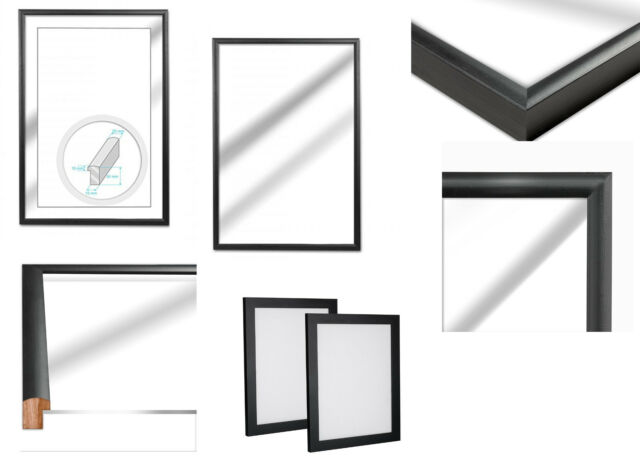 Black Wooden Picture Photo Frame 50x70 Cm Approximately 20 X 28 Inch ...