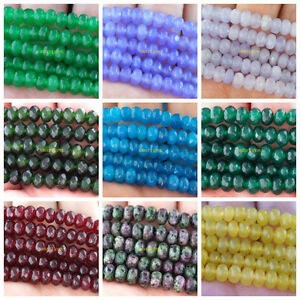 Faceted 4x6mm multicolor gemstones abacus loose beads 15 quot ebay