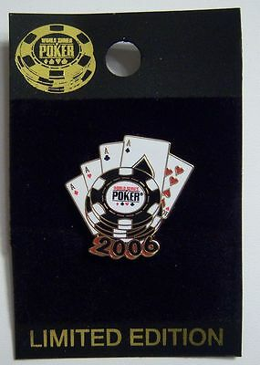 "Four Aces Playing Cards Collectors Lapel Hat Pin 0.75/"" tall"
