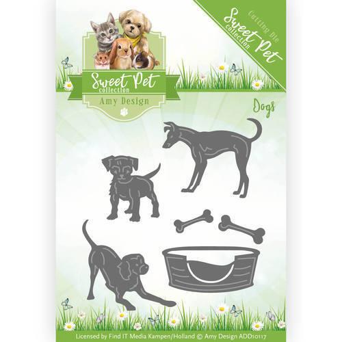 AMY DESIGN Die Cutting Die SWEET PET COLLECTION Dogs ADD10117 6 Dies Puppy Bone