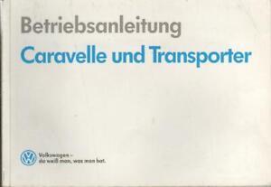VW-TRANSPORTER-T4-Betriebsanleitung-1991-Bedienungsanleitung-CARAVELLE-BA
