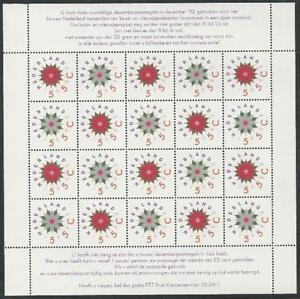 Paises-Bajos-De-1992-Postfrisch-Kleinbogen-MiNr-1458-1459-Dezembermarken