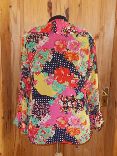 Yellow Chiffon Tunic Top Polka L 18 up Blouse Dot Lace Red 16 Floral Pink Navy WYq5Bwv4