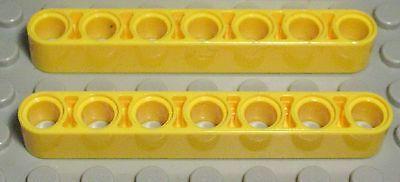 2377 Lego Technic Lochbalken 1x15 Gelb 2 Stück