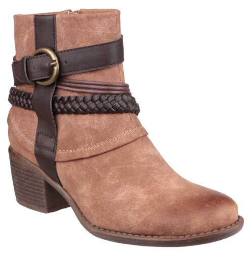 DIVAZ Vado tan or navy ladies faux suede side-zip ankle boot size 36-41
