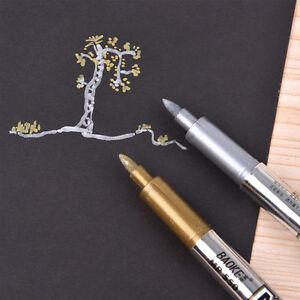 Creative Marker Pen Metal Color Paint Pen Invitations Card Title Pen to Sign