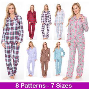 cd9ee61b2c White Mark Women s Flannel Pajama Set 100% Cotton 2-PC PJ Set ...