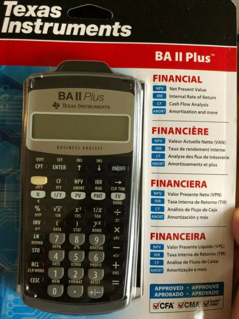 Texas Instruments BA II 2 Plus Professional Financial Calculator - Brand New
