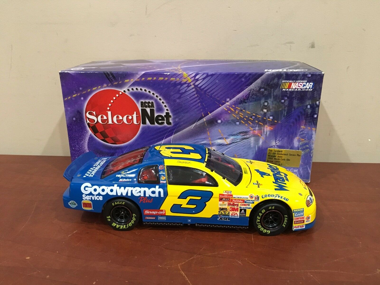 1999 RCCA Selectnet 1 24 Scale Dale Earnhardt GM Goodwrench Wrangler Jeans