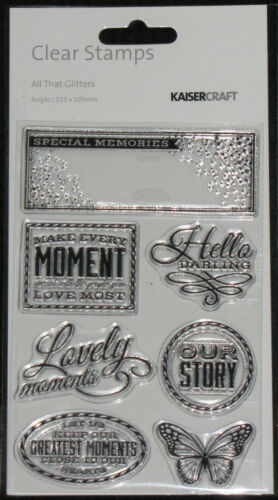 KAISER Kaisercraft Clear Stamps /'COLLECTIONS 2015/' Choose from 7 Designs