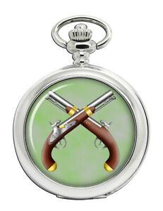Duelling-Pistols-Pocket-Watch