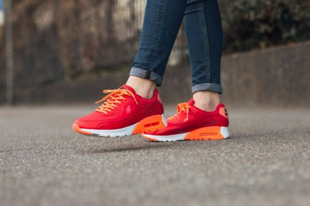 size 40 bd12b 839a4 Nike Air Max 90 Ultra Essential WMN Sz 12 University Red/orange/white  724981-602