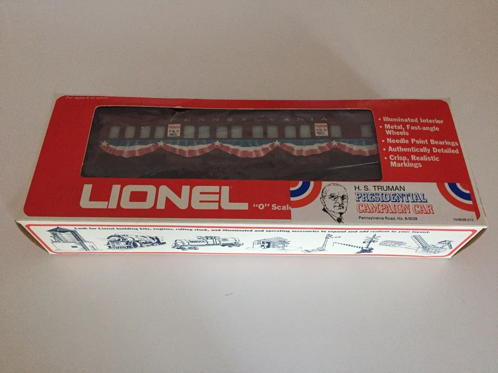 Lionel   9528 PRR Presidential Campaign Observation Car - Harry S.Truman - 1976
