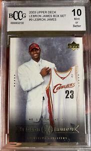 2003-Upper-Deck-LeBron-James-Rookie-Card-9-Box-Set-BCCG-10-Mint-Beckett-Lakers