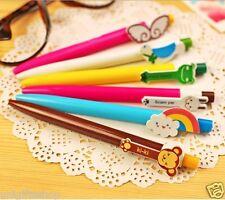 6-piece Cute Cartoon Animal Ball Pen Ballpen Medium Point , 0.5 Mm, Blue, 6 Pens