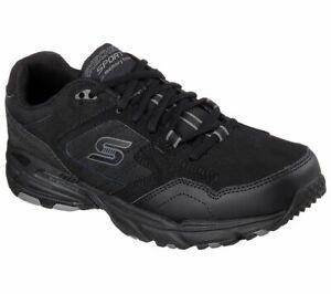 Skechers-Men-039-s-Black-Shoes-Memory-Foam-Sport-Comfort-Casual-Train-Athletic-50959
