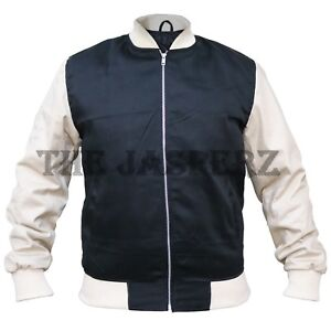 Mans-Ansel-Elgort-BABY-DRIVER-Varsity-Bomber-Cotton-Jacket-FAST-SHIPPING