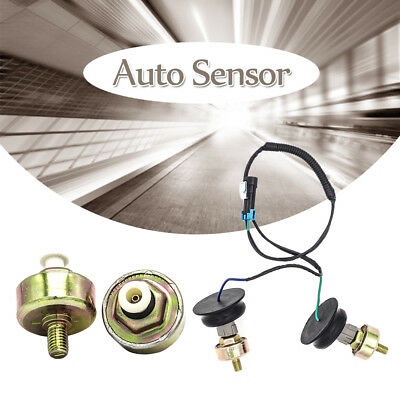 New 2 Knock Sensors with Harness Pair Kit For 2000-2006 GMC Yukon 4.8L 5.3L