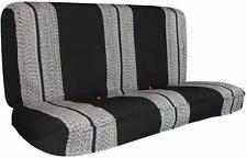 Saddle Blanket Black Full Size Pickup Trucks Bench Seat Cover