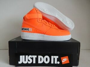 Details about NIKE AIR FORCE 1 HIGH 07 LV8 JDI LEATHER JUST DO IT ORANGE SZ 11.5 [BQ6474 800]