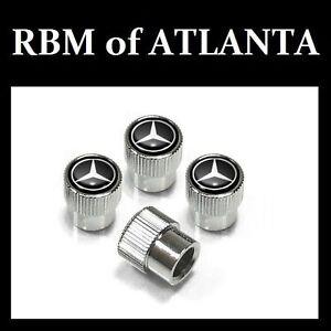 Genuine mercedes benz mb star valve stem caps black ebay for Mercedes benz valve stem caps