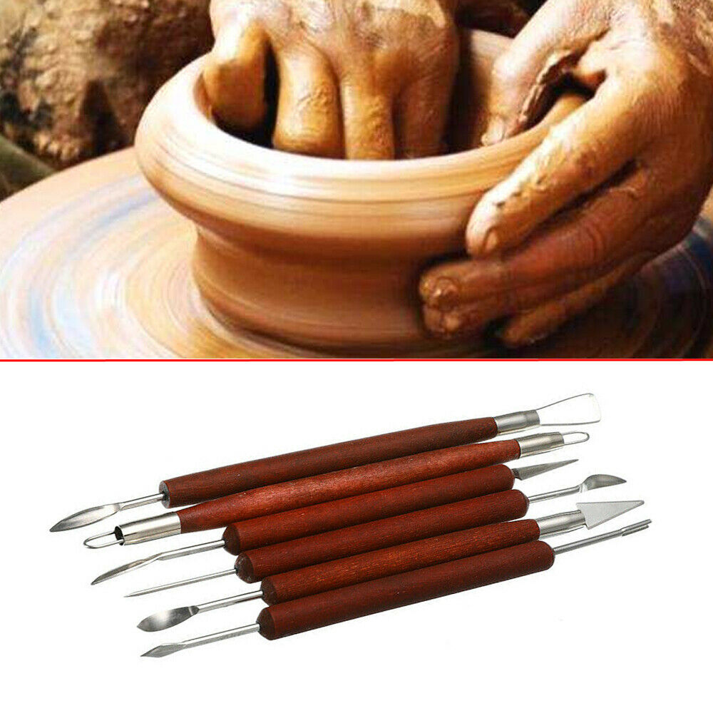 Clay Sculpting Set Wax Carving Pottery Tools  Ceramic Polymer Shapers 6PCS