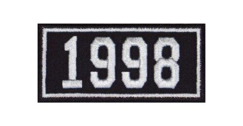 1998 Biker Patches Aufnäher Jahreszahl Geburtsjahr Birth Year Rocker Motorrad MC