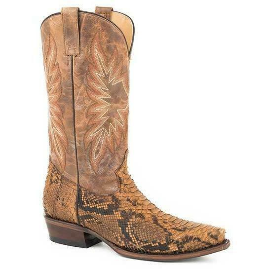 Stetson Snake Eyes 12-020-6118-4232 Mens Marronee Exotic Snip Toe Western stivali