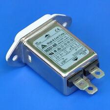 6 Amp 115V/250V AC Power IEC Inlet EMI Noise Filter