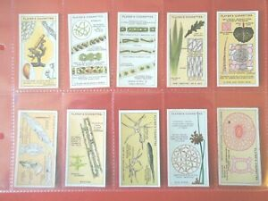 1929-HIDDEN-BEAUTIES-using-microscope-Complete-Players-Tobacco-Card-Set-ex-cards