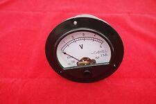 1pc Dc 0 5v Analog Voltmeter Voltage Panel Meter Dia 90mm Dh62 Plastic Housing