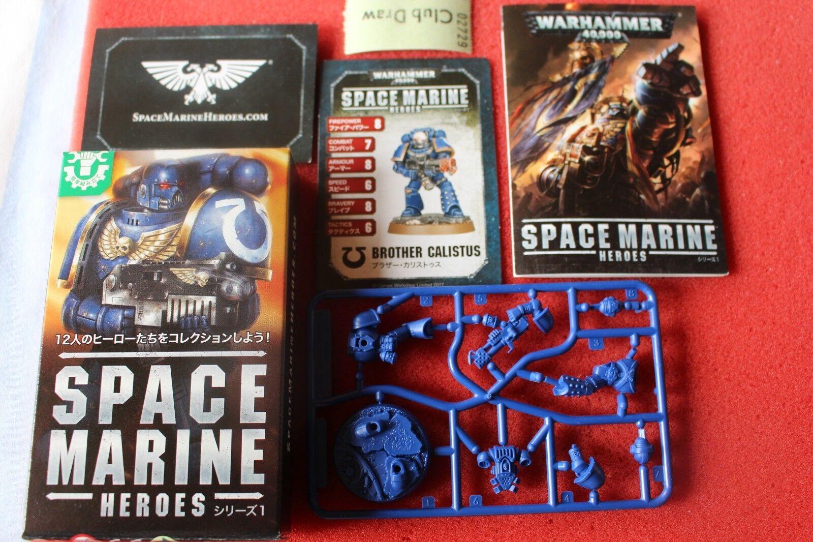 Space marine helden bruder calistus japan exklusive games workshop neue marines