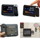Projection Digital Calendar Snooze Alarm Clock Color Display LED Backlight