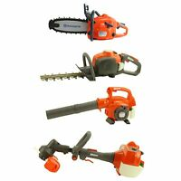 Husqvarna Kids Toy Chainsaw + Hedge Trimmer + Leaf Blower + Weed Eater