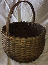 Large Antique New England Swing Handle Gathering Basket Awesome Shape