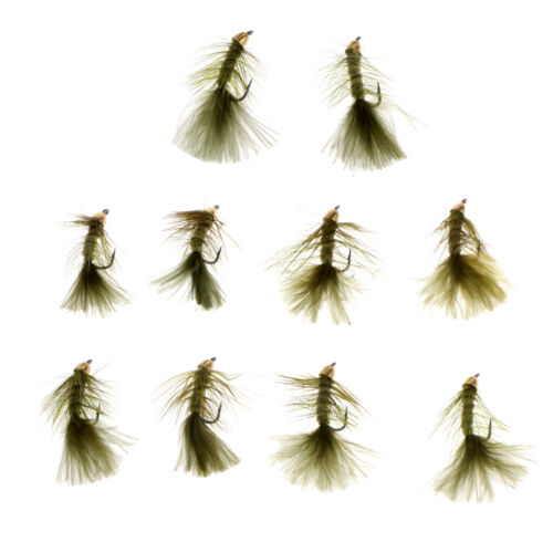 10pcs//lot Simulation Woolly Buggers Olive Sinking Wet Fly Fishing Flies
