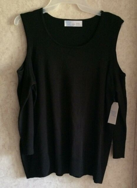 bd280e2244ca4 Time and Tru Womens Top Cold Shoulder Sweater New Semi Fitted Size XXL 2XL  20