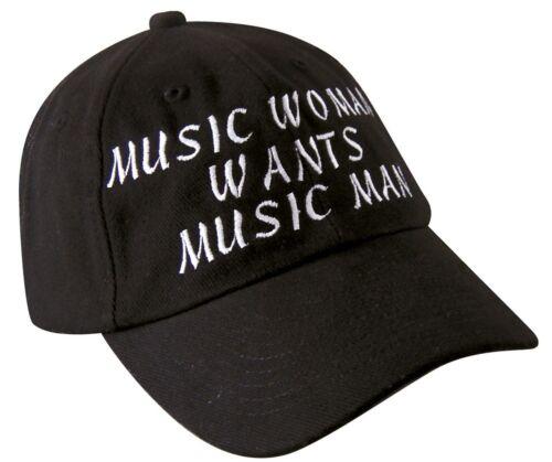 Baseballcap cap gorra agotado negro con Stick Music Woman Wants Music Man 69730