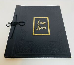 Vintage-Scrap-Book-Photo-Photograph-Album-15-Pages-Unused-String-Binded-12x10