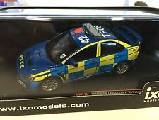 Mitsubishi Lancer Evo X UK Police 2008  1:43 IXO EMERGENCY MODEL CAR MOC116