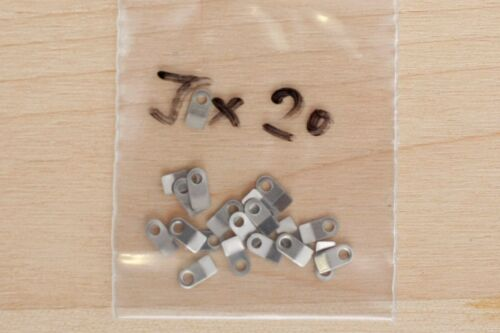 20 pieces for ETA Valjoux movements Case clamp mounting tab J 4.4x2.2mm